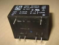 HAHN Printtrafo BVEI3032027 230V / 2x12V 1,5VA NEU Trafo
