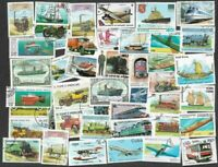 Transport-1000 all diff stamps collection-Trains-Cars-Trucks-Ships-Aircraft