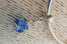 DANGLEY BLUE GEMSTONE  CHARM Silver European Charm Bracelet