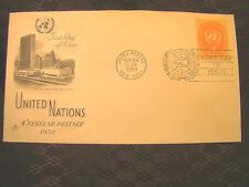 U N Stamp First Day FDC OCT October 24 1958 United Nations Building Art Craft 63