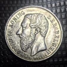 BELGIQUE LOT DE 2 50 CMES 1886 ET 1898 LÉOPOLD II SUP A SPL