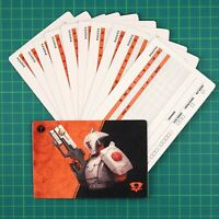 Kill Team 12 Blank Data Cards Tau Empie en Warhammer 40K 12170
