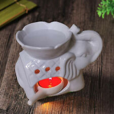 Elephant Oil Burner Wax Melts Ornament Spa Ceramic Tea Light Candle Holder UK