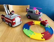 PAW PATROL ADVENTURE BAY ROADWAY, MARSHALL FIRE TRUCK & SKYE HELICOPTER