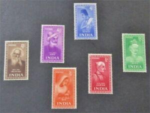 nystamps British India Stamp # 237-242 Mint OG H $49   L23x2754