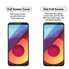 1x FULL SCREEN Face Curved TPU Screen Protector Cover For LG Q6 Plus
