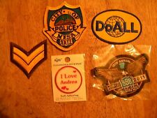 LOT OF 5 OLD PATCH PATCHES vintage police doall stripes mixed motorcycle