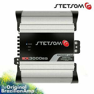 Stetsom EX3000EQ 1Ohm 3000 Watts Car Audio Amp - Mono Compact HD Amplifier