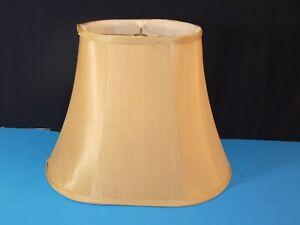 "Medium Oval Bell Shape Lamp Light Shade 10""x14"" Pale Gold Perfect"
