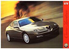 ALFA ROMEO GTV 2.0 TWIN SPARK 1997-98 UK Opuscolo Vendite sul Mercato Opuscolo