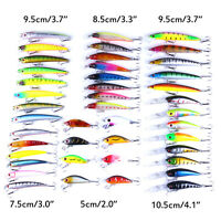43PCS Mix Fishing Lures Bass Baits Crankbaits Hooks Minnow Baits Tackle with Box