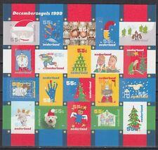 Niederlande 1999 ** Mi.1753/72 Klbg. Dezembermarke Weihnachten Christmas[st2506]