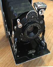 Vintage ancienne Caméra pliante, ZECANAR 105 mm Objectif f7.7, Gauthier Vario obturateur
