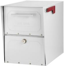 Classic Locking Post Mount Parcel Mailbox High Security Reinforced Lock