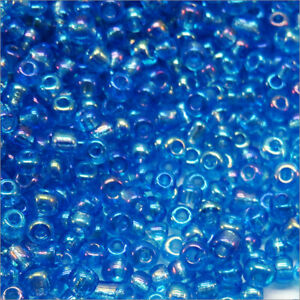 Pearls Of Seed Glass Transparent 2mm Sky Blue Ab 20g (12/0)