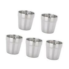 5pcs Stainless Steel Double Wall Tumbler Coffee Beer Wine Water Cup Pint Cup