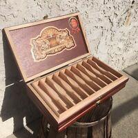 EP Carrillo Majestic Empty Wooden Cigar Box 11.75x7x1.25