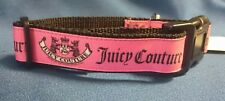 "Dog Collar 10"" - 14"" neck size.  FREE FABRIC DESIGN made in England"