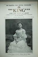 1904 Estampado Nuevo Retrato Princesa Alice De Albany