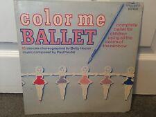 Color Me Ballet RARE Vinyl LP Record 16 Dances Complete Ballet Children Rainbow
