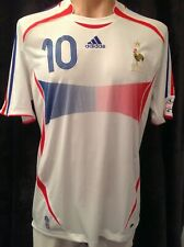 France Adidas away soccer jersey shirt WC 2006 Zidane 10 large authentic