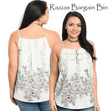 New Ladies Singlet Top With A Floral Print Plus Size 18/3XL (1152)PA