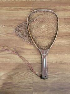 Vintage Kassnar Wooden Handle Nylon Fishing Net Trout