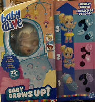 """Baby Alive """"Baby Grows Up"""" Happy Hope or Merry Meadows Growing Doll"""