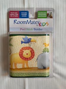 RoomMates Peel & Stick Border RM1137BCS Nursery Child Room Vibrant Animal Scene