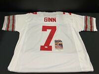 TED GINN JR OHIO STATE BUCKEYES SIGNED AUTOGRAPHED CUSTOM JERSEY JSA WITNESS COA