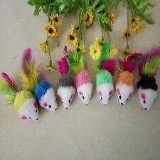 1/5/10x couleur fausse souris peluche jouet pour PET-chats chaton jouer jouet hq