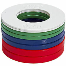 5LB Color Fractional Plate Set (.25, .5, .75, & 1lb Pairs) - Incremental Loading