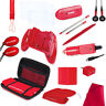 NEW Red 20 in 1 Essentials Starter Kit Case Stylus for the OLDER Nintendo 3DS 4D