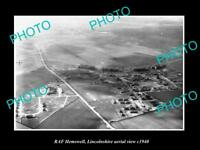 OLD LARGE HISTORIC MILITARY PHOTO AERIAL VIEW OF RAF HEMSWELL LINCOLNSHIRE c1940