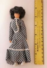 New Erna Meyer #795 Woman in Black & White Dress 1:12 Dollhouse Miniature