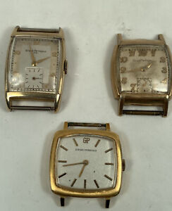 Lot of 3 Girard Perregaux  Wristwatches  Manual Wind 2 Running