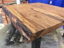 Reclaimed Solid Oak/steel Coffee Table,hand Made To Order,industrial,rustic