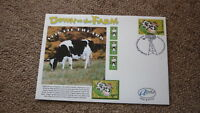2005 AUSTRALIAN ALPHA STAMP ISSUE FDC, DOWN ON THE FARM, ABIGAL THE COW