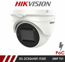 HIKVISION 2K 5MP Turret Camera PoC Motorised Vari-focal IP67 OSD Coax 2.7-13.5mm