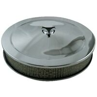 """14"""" x 2.5"""" (62mm) Air Filter suit Holley 2bbl & 4bbl 5 1/8 neck with flat base"""