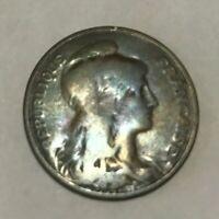 1909 French Coin – Daniel Dupuis – 5 Centimes – Republique Francaise
