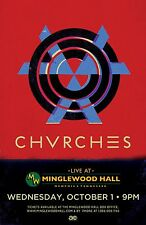 CHVRCHES 2014 MEMPHIS CONCERT TOUR POSTER - Synth/Indie Pop, Indietronica Music