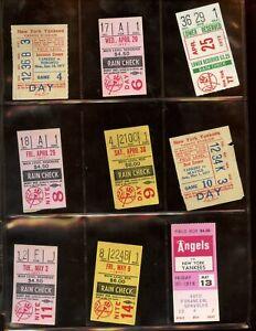 1977 World Champion New York Yankees Ticket Stub Lot 35 Different