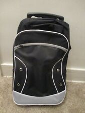 New Rolling Backpack Black Luggage Kid Size