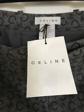 CELINE Paris NWT Size 42 Vintage A-Line Gray Wool Cashmere Fully Lined Skirt