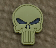 """PVC / Rubber Patch """"Olive Punisher Black Eyes"""" with VELCRO® brand hook"""
