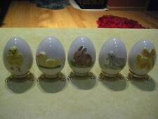 "Vintage Lot (5) Goebel ""Annual Easter Eggs"" (1978/ 1979/ 1980/ 1981 & 1982)"