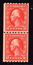 U.S. STAMP  #411 LP -- 2c WASH-FRANK -- FLAT, p8.5H, w190 -- 1912 -- UNUSED