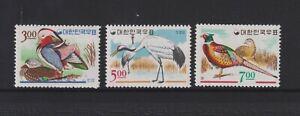 Korea - 1966, Korean Birds set - MNH - SG 621/3