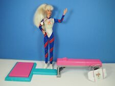 Olympic Barbie Doll with Beam, Mat, Medal and Tote Bag
